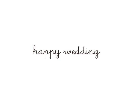 ウェディングスタンプ メッセージ(happy wedding) WD-73