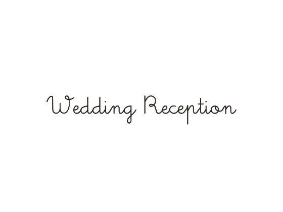 ウェディングスタンプ メッセージ(wedding reception) WD-82