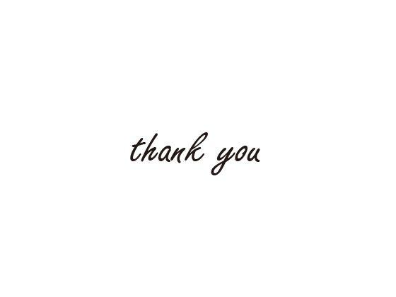 ウェディングスタンプ メッセージ(thank you) WD-87